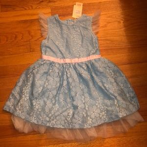 Tulle lace baby blue dress